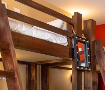 Bunkbeds at Butch Cassidy's Bunkhouse